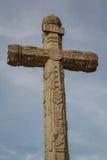 Cruz cristiana con adornos indios, Tepotzotlan Fotografía de archivo