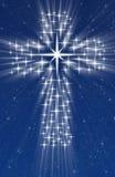 Cruz cristiana en estrellas Imágenes de archivo libres de regalías