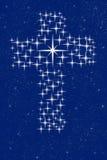 Cruz cristiana en estrellas Fotos de archivo libres de regalías