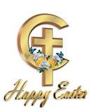 Cruz cristiana gráfica 3D de Pascua