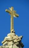Cruz cristiana santa de oro Fotografía de archivo libre de regalías