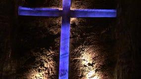 Cruz, cristiano, estatuas, religión almacen de metraje de vídeo