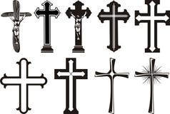 Cruz - cruz del `s de Cristo Fotos de archivo