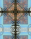 Cruz da árvore da garganta grande imagens de stock royalty free