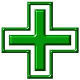 cruz da farmácia 3D Imagens de Stock