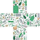 Cruz da farmácia Imagem de Stock Royalty Free