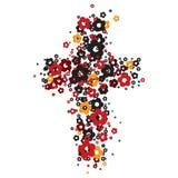 Cruz da flor Imagens de Stock