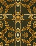 Cruz da folha de ouro Imagens de Stock Royalty Free