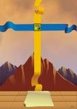 A cruz da mercê e da justiça Imagem de Stock