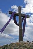 Cruz da missão de Santa Barbara Fotografia de Stock Royalty Free