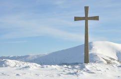 Cruz da montanha Imagens de Stock Royalty Free
