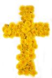 Cruz das flores Fotografia de Stock Royalty Free