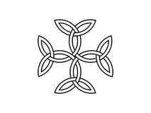 Cruz de Carolingian Símbolo de Triquetra Vector libre illustration