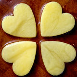 Cruz de corazones Fotos de archivo libres de regalías