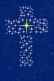 Cruz de Cristo en estrellas Fotos de archivo