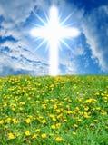 Cruz de dios del cielo Imagenes de archivo