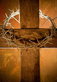 Cruz de Easter Imagens de Stock