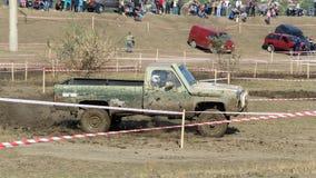 Cruz de ensayo 4x4 del jeep del Moldavia Ohei Imagen de archivo libre de regalías