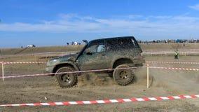 Cruz de ensayo 4x4 del jeep del Moldavia Ohei Foto de archivo libre de regalías