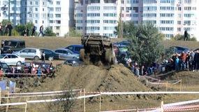 Cruz de ensayo 4x4 del jeep del Moldavia Ohei Imágenes de archivo libres de regalías