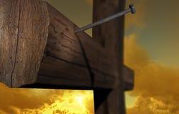 A cruz de Golgatha Fotografia de Stock Royalty Free
