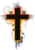 Cruz de Grunge del color Imágenes de archivo libres de regalías
