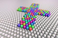 Cruz de huevos ilustración del vector