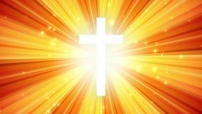 Cruz de la adoración del resplandor solar