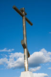 Cruz de la adoración en la colina de Tsarev Fotos de archivo