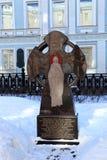 Cruz de la adoración en memoria del reverendo Euphrasinia el patrón de Moscú Foto de archivo libre de regalías