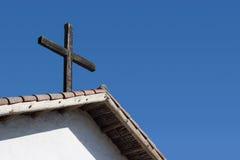 Cruz de la azotea Imagen de archivo libre de regalías
