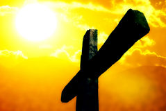 cruz de la crucifixión Foto de archivo