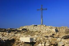 Cruz de la cumbre Foto de archivo