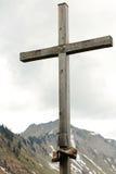 Cruz de la cumbre Fotografía de archivo