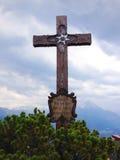 Cruz de la cumbre Foto de archivo libre de regalías