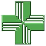 Cruz de la farmacia Fotografía de archivo