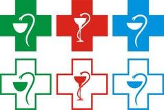 Cruz de la farmacia del vector Imagen de archivo libre de regalías