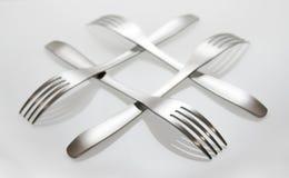 Cruz de la fork Imagen de archivo