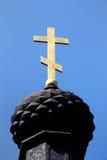 Cruz de la iglesia de Ortodox fotos de archivo libres de regalías