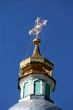 Cruz de la iglesia de Ortodox imágenes de archivo libres de regalías