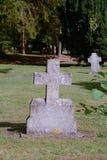 Cruz de la lápida mortuaria Fotos de archivo