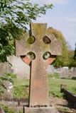 Cruz de la lápida mortuaria Imagen de archivo libre de regalías