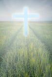Cruz de la luz Imagen de archivo libre de regalías