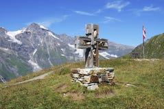 Cruz de la montaña Imagenes de archivo