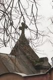 Cruz de la pequeña capilla Foto de archivo