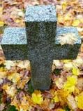 Cruz de la piedra sepulcral Fotos de archivo libres de regalías