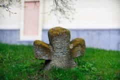 Cruz de la piedra sepulcral Imagenes de archivo