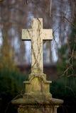 Cruz de la piedra sepulcral de la vendimia Imágenes de archivo libres de regalías