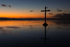 Cruz de la playa Foto de archivo libre de regalías