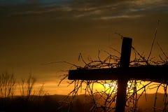 Cruz de la salida del sol Foto de archivo